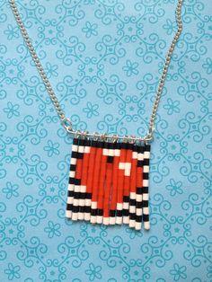 Mini Hama Bead Love Heart