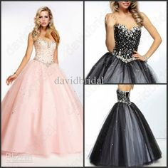 Wholesale Prom Dresses - Buy Charming Amazing Corset Princess Ball Gown Prom Dresses With Lace Applique Crystle Beads Soft Pink Popular Quinceanera Dress Lace-Up Cheap, $88.47 | DHgate