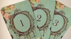 Wedding table numbers vintage event table by Sweetturquoise, $35.00