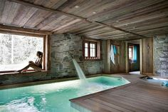 Amazing Small Indoor Pool Design Ideas 41 image is part of Amazing Small Indoor Swimming Pool Design Ideas gallery, you can read and see another amazing image Amazing Small Indoor Swimming Pool Design Ideas on website Indoor Pools, Small Indoor Pool, Outdoor Pool, Chalet Design, House Design, Location Chalet, Location Saisonnière, Hotel Fasano, Chalet Interior
