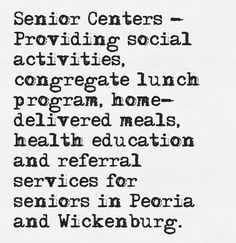 Our Senior Centers are a great way to keep your family members engaged and young at heart!
