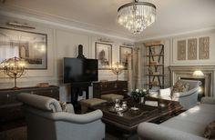 дизайн квартир американская классика - Поиск в Google