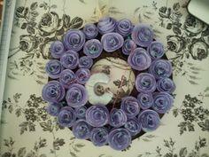 Paper roses wreath.