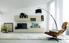Modern living room interior with TV