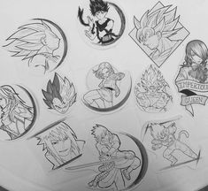 Black And White Dragon Ball Tattoo Designs