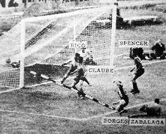 Primer Gol en la historia de la Copa Libertadores de América convertido por Carlos Borges.