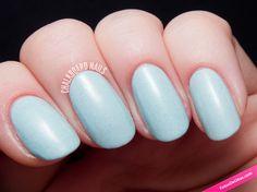 Uñas celestes con microtextura. #Texturas #Nails #NailArt #Uñas #Manicura #Celeste