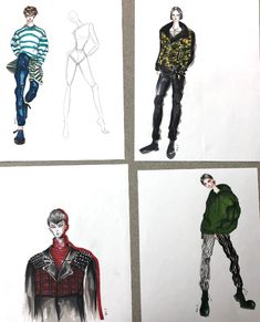 Beautiful fashion sketches by one of our own Fashion Marketing and Management students...Rae.