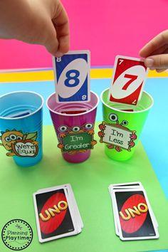 Number Games Kindergarten, Kindergarten Activities, Hands On Learning Kindergarten, Learning Games, Kindergarten Lesson Plans, Word Games, Kindergarten Welcome, Maths Games For Kids, Math Games For Preschoolers