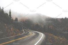 Rainy Mountain Road Fade by Girl North on @creativemarket