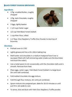 Black Forest dukkah brownies