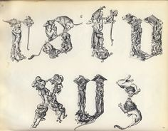 Fantastic Alphabet: Master E. S. (c. 1420 – c. 1468; previously known as the Master of 1466) Letters R S T V X Y Z