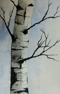 Original Watercolor Painting Maine Birch Tree by pinetreeart Birch Tree Art, Van Gogh Watercolor, Art Painting, Watercolor Paintings, Tree Painting, Painting, Art, Original Watercolor Painting, Birches Painting