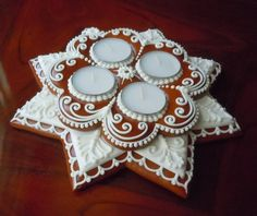 Hungarian Gingerbread Decoration with 4 by SophieAnnasJewelbox, $51.00