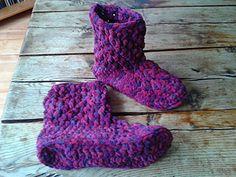 Chunky Brick Slipper Boots free crochet pattern - The Lavender Chair
