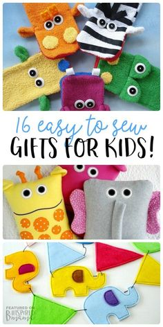16 Easy to Sew Gifts for Kids - perfect for handmade Christmas presents or special Birthday gifts - at B-Inspired Mama