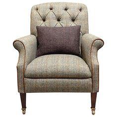 Buy Harris Tweed Flynn Armchair, Bracken/ Bromton Tan Online at johnlewis.com