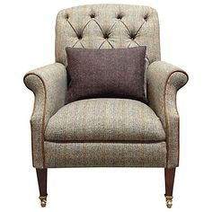 Buy Harris Tweed Flynn Armchair, Bracken / Bromton Tan Online at johnlewis.com