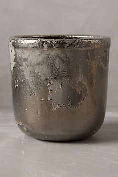 Metallic Crackle Herb Pot #anthropologie