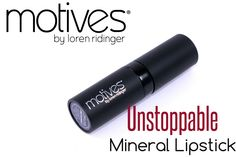 Motives Cosmetics Mineral Lipstick In Unstoppable - Review, Swatches & Photos | Beautetude