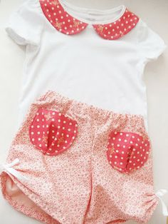 Little gathered shorts and peter pan collar tutorial