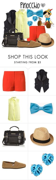 """Pinocchio -- Pinocchio"" by evil-laugh ❤ liked on Polyvore featuring Vero Moda, Mossimo, VILA, Forever 21, River Island, TOMS, disney and Pinocchio"