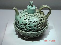 I love celadon pottery.  The shades are green are calming and reminds me of Korea :)