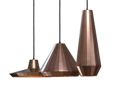 Copper lights by David Derksen New At the Property Furniture showroom.