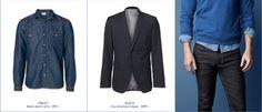 #MQ Blue Denim, Blues, The Selection, Jackets, Men, Fashion, Down Jackets, Moda, Fashion Styles