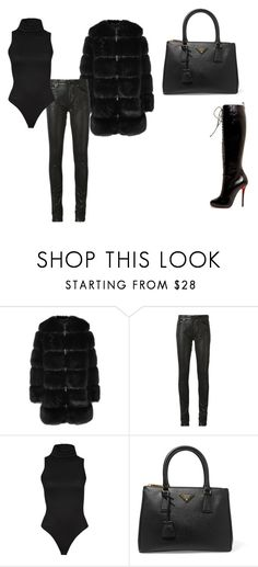 """""""Untitled #26"""" by nicantipoo on Polyvore featuring Givenchy, Yves Saint Laurent, Christian Louboutin and Prada"""