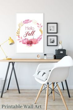 up your fall game this season with this printable wall art. #fallwallart #fallprintable #pumpkinprintable #printables #downloadable #wallart Pink Wall Art, Pink Art, Calligraphy Print, Rainbow Print, Pink Walls, Gifts For Coworkers, Wall Art Quotes, Dorm Decorations, Printable Wall Art