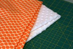 Nice tutorial for sewing with Minky....I made a small doll's blanket once with Minky; the remaining yardage is still in my stash because I was so frazzled. Definitely going to try this method.