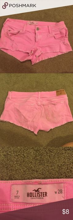 Hollister pink shorts Can tell they have been worn on the butt Hollister Shorts