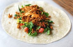 Chickpea Burritos w/ Creamy Roasted Red Pepper Sauce