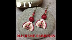 Those are cute and easy macrame earrings with big beads. I promise to improve myself in making videos. Enjoy and have a fun making those earrings :) You may browse to see my Macrame Earrings Tutorial, Micro Macrame Tutorial, Earring Tutorial, Bead Earrings, Tatting Jewelry, Macrame Jewelry, Macrame Bracelets, Loom Bracelets, Chevron Friendship Bracelets