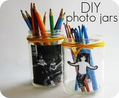 DIY Photo Jars.