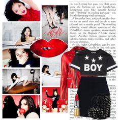 I put on red lipstick by niall-is-mine on Polyvore featuring polyvore fashion style BOY London Yves Saint Laurent A.L.C. Elizabeth Arden red hyuna