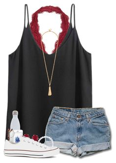 """&&; birthday count down :)"" by strawberry-styles ❤ liked on Polyvore featuring H&M, S'well, Kendra Scott and Converse"