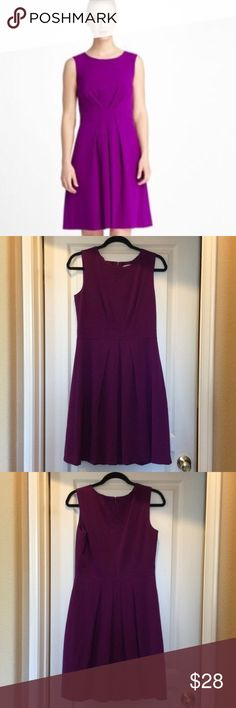 """🎉LIKE NEW TAHARI Fit & Flare Dress Size 6 🎉 Like new sleeveless Studio TAHARI-Levine Co. pleated fit & flare dress in size 6. Magenta/pink color. Dress is fully lined and zips up the back. Polyester. No stains, tears or fading. Excellent condition and comes from a smoke free home. 39"""" from shoulder to hem. Super cute dress! Tahari Dresses"""