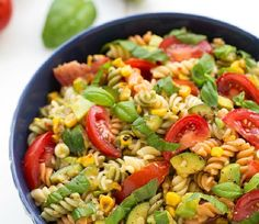 Corn, Zucchini, and Avocado Pasta Salad - We compiled a list of 67 of the best pasta salad recipes around the web.   Savorystyle.com