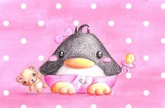 A very good friend of mine is having her birthday today, so I thought it was about time to draw yet another birthday penguin. You can never have enough birthday penguins! Happy Birthday, dear! The ...