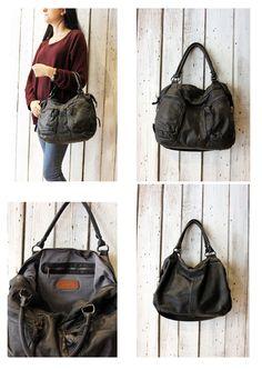 "Handmade Italian  Leather Messenger Bag ""PUMP BAG 16"" di LaSellerieLimited su Etsy"