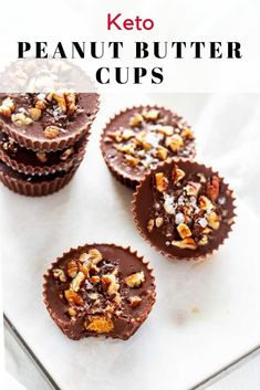 "Fat Bombs or Dessert? You decide! Either way, you are going to fall in love with these Low Carb Peanut Butter Cups. This easy no bake recipe, is tastes so much like the ""real thing"". Easy Baking Recipes, Snack Recipes, Dessert Recipes, Keto Recipes, Dessert Ideas, Salad Recipes, Dinner Recipes, Healthy Recipes, Keto Friendly Desserts"