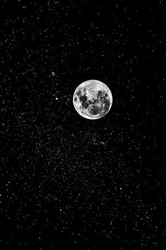Full moon, sparkling, glitter-like, bright on top of dark, thick black, ongoing, freedom