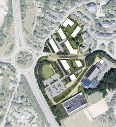 Pierre-Yves Martin on Behance Vern Sur Seiche, Fantasy City Map, Master Plan, Architecture, Garden Paths, Illustration, City Photo, Images, Behance