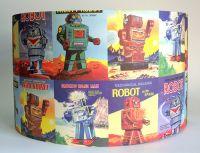 Vintage Robots Paper Lampshade