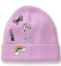 66bd9c4bfea Miss Selfridge Lilac Novelty Beanie ( 28) ❤ liked on Polyvore featuring  accessories