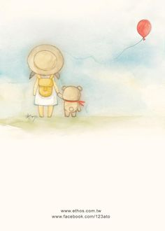 Cute illustration of girl and teddy bear Cute Images, Cute Pictures, Drawing For Kids, Art For Kids, Pictures To Paint, Cute Illustration, Nursery Art, Doodle Art, Cute Cartoon