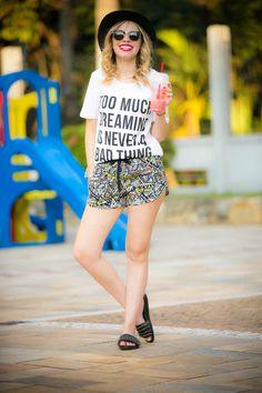 Shorts Estampado (look!)