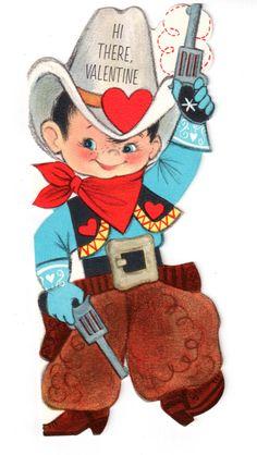 Hallmark Cowboy Valentine Slim Jims Vintage.